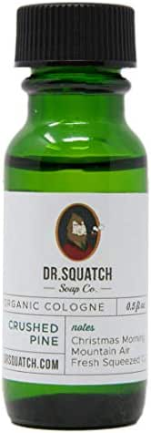 Dr. Squatch Crushed Pine Cologne – All Natural Men's Scent with Spruce and Patchouli Oils 0.5 FL OZ