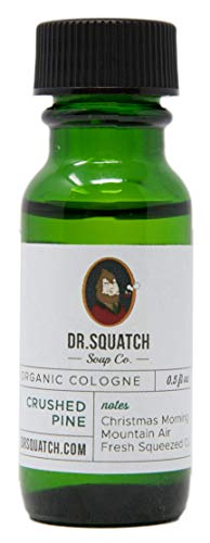Dr. Squatch Crushed Pine Cologne - All Natural Men's Scent with Spruce and Patchouli Oils 0.5 FL OZ