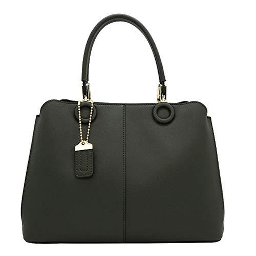 Femmes Sac Kelly Sac PU Sacs À Main De Grande Capacité Messenger Bag Bag Light Tea Green