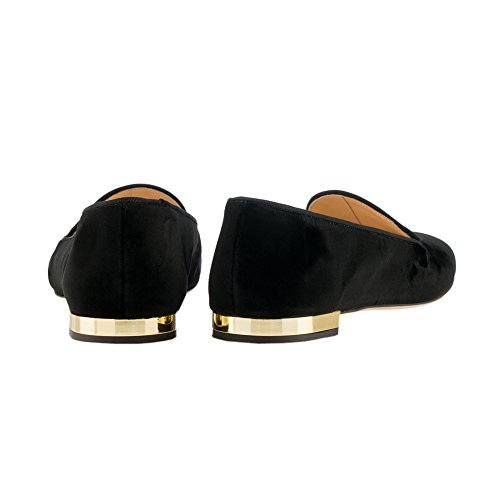 MERUMOTE Women's Pointed Toe Comfortable Classic Flat Sandals Black mmhGQKnr