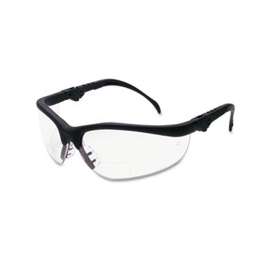 Crews Klondike Magnifier Glasses, 2.0 Magnifier, Clear Lens,