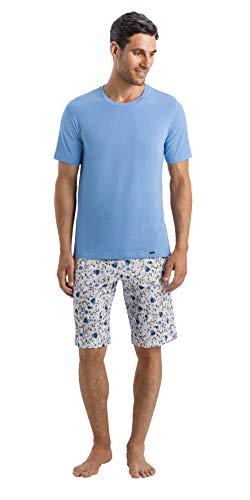 HANRO Men's Living Short Sleeve Shirt, Atlantic -