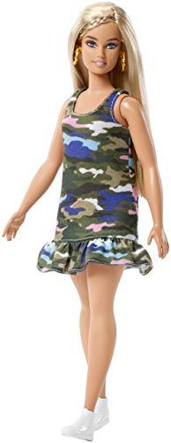 Barbie Muñeca Fashionistas Rubia con Vestido Militar