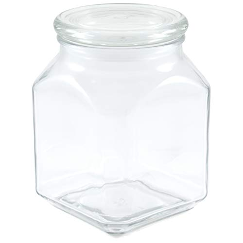 Anchor Hocking 52 Ounce Glass Emma Jar with Cover, Set of 2