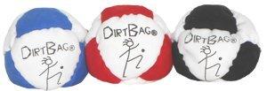 Dirtbag Classic Footbag 3 Pack White Combo