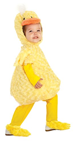 Duck Halloween Costume Toddlers (Underwraps Kid's Baby's Duck Costume, Large Childrens Costume, Yellow,)