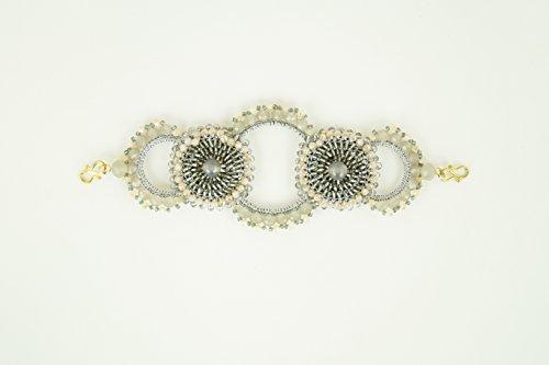 c Hayden No Slip No Tangle Beaded Headband, Stretch Brand, Women Hair Jewelry, One Size Fits All- Gray ()