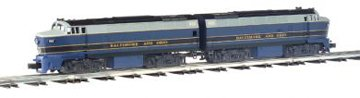 Williams by Bachmann O Scale Baldwin Shark Powered and Dummy (A-A) Diesel Locomotive (Baltimore & Ohio) Aa Diesel Locomotive