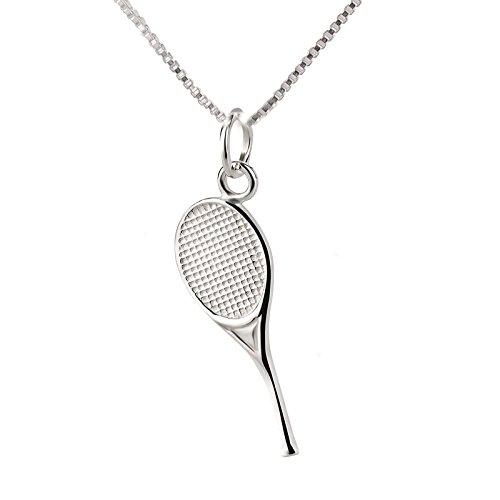 SL-Silver Set aus Kette und Anhänger Tennisschläger 925 Silber Geschenkverpackung