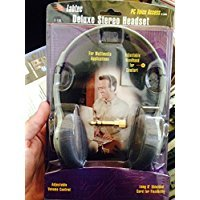 Deluxe Multimedia Stereo Headset (Labtec C-110 Deluxe Stereo Headset w/ Volume Control on Line - Great for Music, PCs, Gaming, Video)