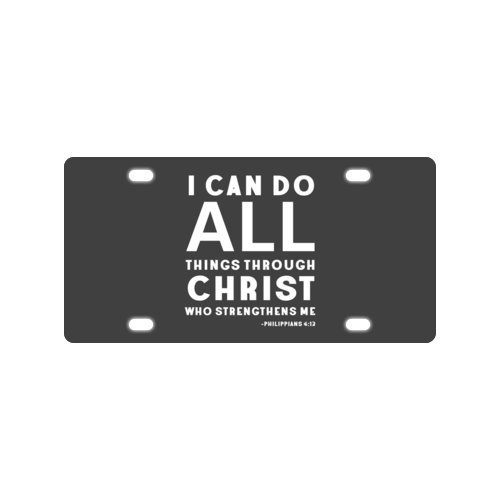 Official I can do all things through Christ who strengthens me - Philippians 4:13 - Bible verse - 12 X 6 Metal Licensed Plate for Car (New)