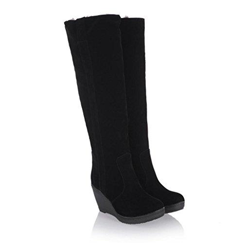 Taille aux Bottes Flanger avec Frotter Grande Plus Neige Pente Chaussures QIAOshoes Blanc Femmes Bottes Tube Porter Grand de PqwBxZd
