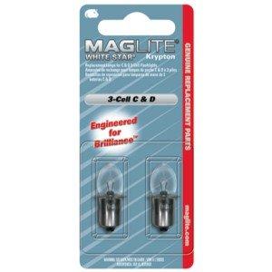 MAG-LITE LOT DE 2 AMPOULES KRYPTON POUR 3C/3D-CELL MAG-LITE LWSA301 Maglite