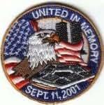 911 9/11 United de memoria en 11 de septiembre 2001 bordado insignia de colores (a412)