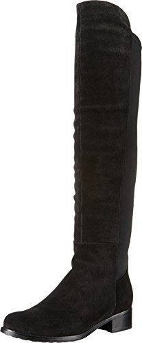 Blondo Women's Velma Waterproof Riding Boot, Black Suede, 8 M US