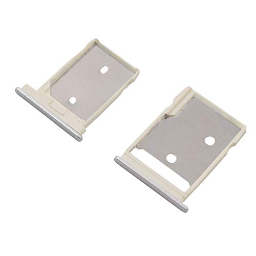 sunways Sim Card Tray with SD Card Slot Replacement Compatible with HTC 10-Silver (Htc One Sim Card Tray)
