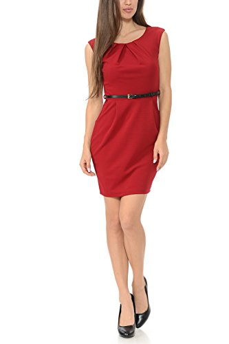 Workwear Sleeveless Women's Sheath Dress Color Auliné Collection Burgundy Office Rw6xqISX