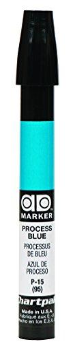 The Original Chartpak AD Marker, Tri-Nib, Process Blue, 1 Each (P15)