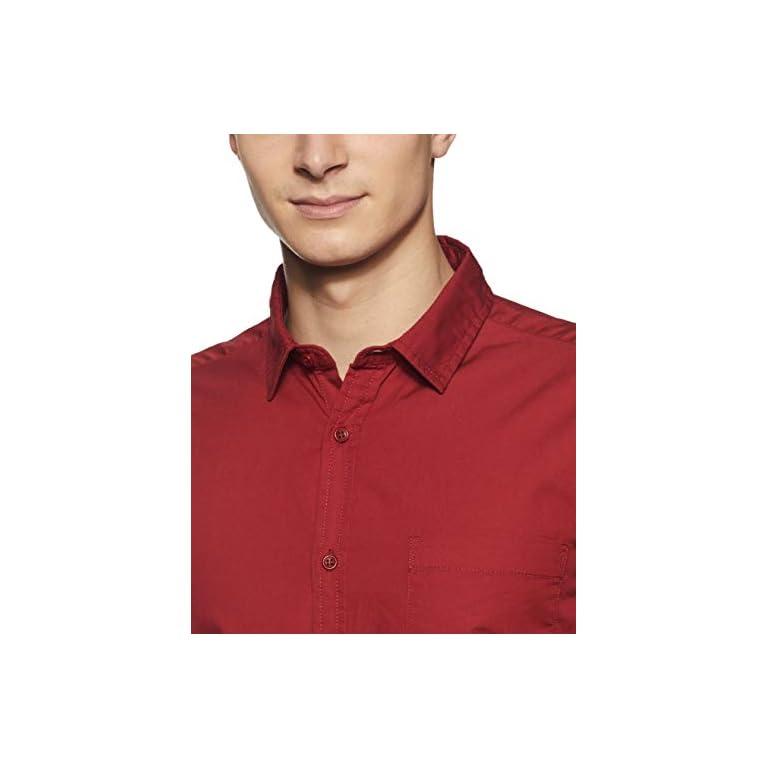 3182SUIuVRL. SS768  - Amazon Brand - Symbol Men's Solid Regular Fit Casual Shirt