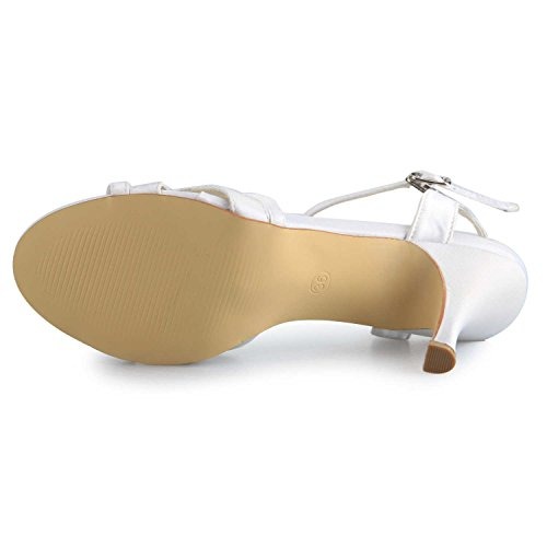 Mid Da Toe Scarpe Donna Sandali Open Satinati Sposa Strass 1419 Jia Bianco Heel 0q5Cnn