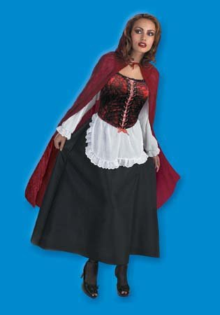 [Red Riding Hood Deluxe Costume - Large - Dress Size 12-14] (Big Bad Wolf Outfit)