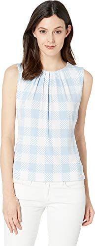 Calvin Klein Women's Pleat Neck Cami Serene Multi ()