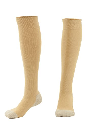 Graduated Compression Socks for Men & Women MDSOX 20-30 mmHg (Nude, XL) Best Stockings for Nurses, Travel, Running, Maternity Pregnancy, Varicose Veins, Medical, Blood Circulation, Leg Recovery
