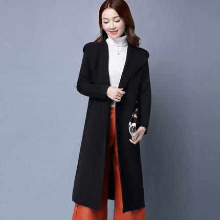 Décontractée Chaude Et Vêtements Liuxc Femme D'hiver Femme Lavée Veste Pour D'automne Black Femmes Confortable qSPwB60