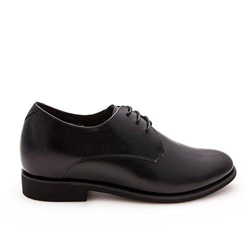 Zerimar Zapatos con Alzas Interiores Para Hombres Aumento 7 cm | Zapatos de Hombre con Alzas Que Aumentan Su Altura | Zapatos Hombre Casuales |Color Negro Talla 43