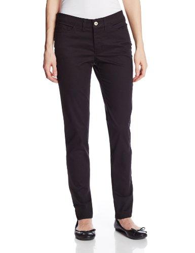 Dickies Women's 5-Pocket Slim Skinny Stretch Twill Pant, Black, 14 Regular Slim Stretch Pocket Pant
