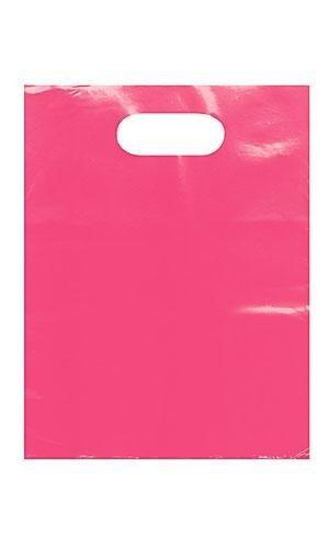 9 x 12 Low Density 1.25 mil Merchandise Bag (Pack of 25) (Pink)
