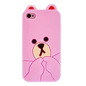 Buy Little Bear Designed Silicone Protective Case for iPhone 4/4S(Assorted Color) , Light Blue