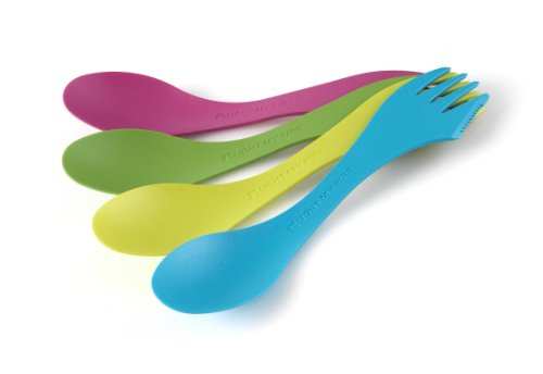 Spoon Camping Knife - Light My Fire Original BPA-Free Tritan Spork Multi-Color 4-Pack - Spirit