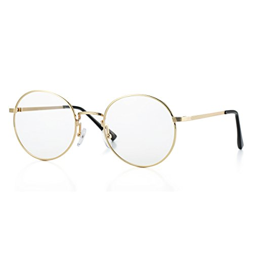 AZORB Non-prescription Round Clear Lens Glasses Circle Eyeglasses Frame