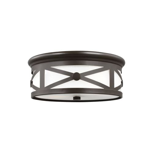 - Sea Gull 7821452-71 Lakeview Outdoor Ceiling Flush Mount, 2-Light 120 Total Watts, Antique Bronze