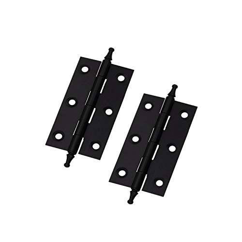 """MTMTOOL Heavy Duty Copper Antique Black Hinge 2.48"""" x 1.54"""" Window Hinge Classical Furniture Cabinet Door Small Hinge with Square Corners Pack of 2"""