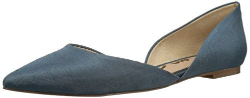 Sam Edelman Women's Rodney Ballet Flat, Blue Shadow Dupioni, 8 Medium US