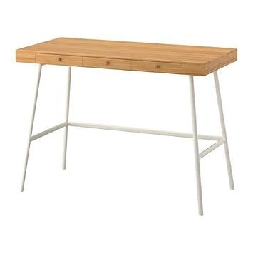 Eckschreibtisch holz ikea  Ikea LILLASEN Schreibtisch aus Bambus; (102x49cm): Amazon.de: Küche ...