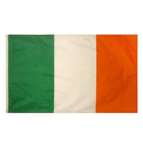 MA ONLINE Republic of Ireland Tri Colour Irish Flag 5ft X 3ft with Eyelets St Patrick Day Accessory