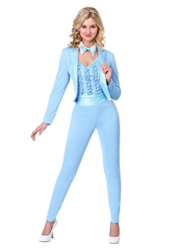 Women's Blue Tuxedo Costume Light Blue
