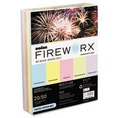 * FIREWORX Colored Paper, 20lb, 8-1/2 x 11, Pastel Popper Mix, 500 Sheets/Ream