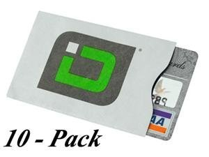 (Identity Stronghold RFID Blocking Secure Sleeve / Case for Id & Credit Card - Pack of 10)