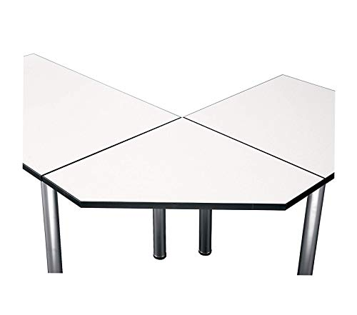 Wood & Style Office Home Furniture Premium Aspen Tables 28-1/2W Corner Connector in White Spectrum