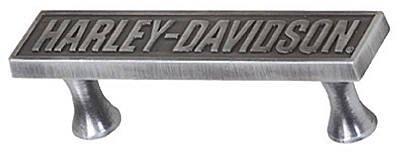 Cast Metal Drawer Pulls (Ace HDL-10120 Harley Davidson Name Plate Cast Metal Drawer Pull - Quantity 4)