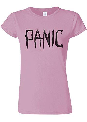 符号検出ストレスPanic Relax Cool Funny Novelty Light Pink Women T Shirt Top-XXL