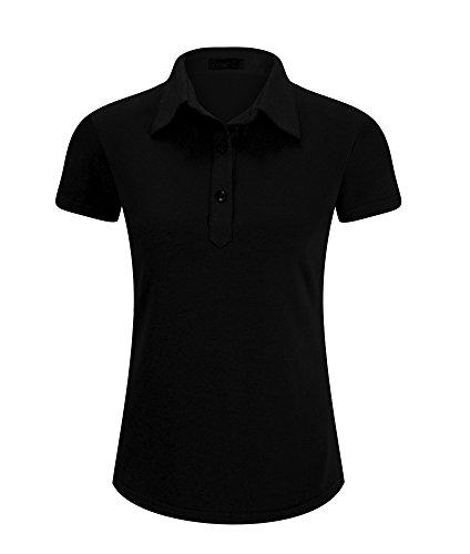 Junior Golf Shop (Eliacher Women Blouses Short Sleeve Slim Fit Junior Golf Polo Shirt (S, Black))