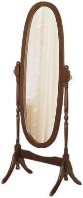 Cappuccino / Espresso Finish Self Standing Cheval Mirror