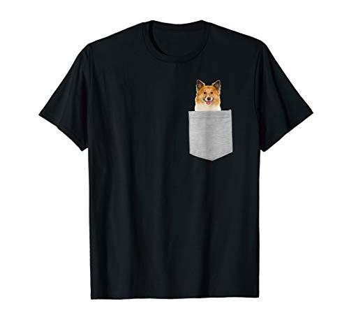 Icelandic Sheepdog Dog In Your Pocket T-shirt