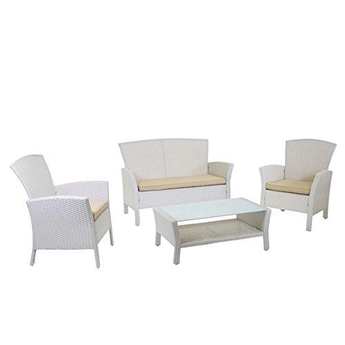 LuxuryGarden - Set salón de jardín con sofá 2 sillones mesa ...