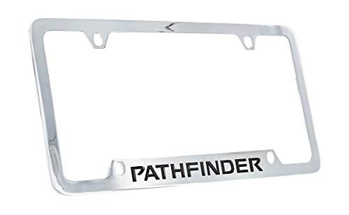 Plate Pathfinder Nissan Frame License - Nissan Pathfinder Chrome Plated Metal Bottom Engraved License Plate Frame Holder